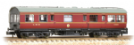 374-875 Farish LMS 50ft Inspection Saloon LMS Lined Crimson